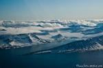 Landeanflug auf Spitzbergen