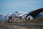 Schlittenhundestation am Rande von Longyearbyen