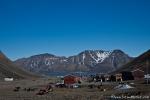Blick auf den Fjord von Longyearbyen
