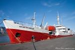 Die Antarctic Dream hat im Hafen von Longyearbyen angelegt