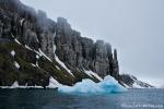 Treibeis an der Küste von Alkefjellet