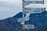Wegweiser in Longyearbyen