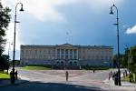 Das königliche Schloss, in dem die norwegische Königsfamilie residiert