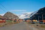 Hauptstraße in Longyearbyen