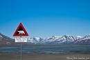 Eisbedeckter Trinkwassersee außerhalb von Longyearbyen