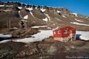 Bescheidene Behausungen in Longyearbyen