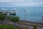 Blick aus unserem Hotelzimmer auf den Hafen von San Cristobal