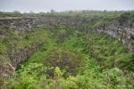 Blick in den Krater der