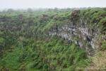 Nebel zieht über den Krater -