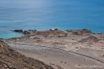 Holzsteg auf der Insel Bartolome, der bis zum höchsten Punkt der Insel führt