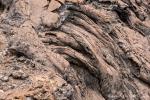Pāhoehoe-Lava oder auch Stricklava auf der Insel Bartolome