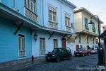 Restaurierte Häuser aus der Kolonialzeit im