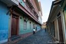 """Restaurierte Häuser im """"Barrio Las Penas"""" - dem historischen Kern der Stadt Guayaquil"""