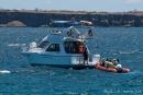 Das Schlauchboot bringt uns nach dem Landgang zurück zur Yacht