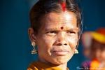 Verheiratete Inderin - man erkennt sie an dem roten Scheitel