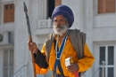 Alter Tempelwächter im Sikh-Tempel