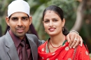 Brautpaar - Rot ist die Frabe der Braut