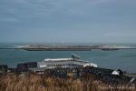 Blick von der Insel Helgoland auf die benachbarte Düne