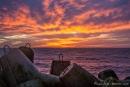 Der Himmel brennt - Sonnenuntergang auf Helgoland