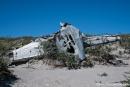 Flugzeugwrack aus der Zeit der amerikanischen Militärbasis Sonderstrom Air Base