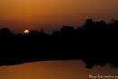Sonnenuntergang an der Lodge