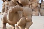 Prächtige Sandsteinfigur - Khajuraho