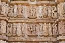 Detailreiche Verzierung der Tempel - Khajuraho