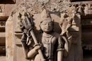 Unzählige Figuren schmücken die Tempel - Khajuraho