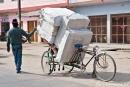 Bei uns würde man einen Transporter brauchen - Fahrradrikscha