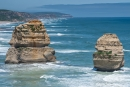 Zwei der Felsnadeln des Port Campbell National Parks