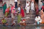 Morgendliche Rituale am Dasashwamedh Ghat - Varanasi