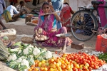 Die Überschüsse der eigenen Ernte werden auf dem Markt verkauft