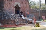 Bauarbeiten im Nizamuddin Komplex - Delhi