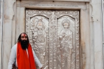 Hindu-Priester im Durgiana Mandir-Tempel, Amritsar