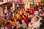 Ritual der Ganga aarti im Parmarth Niketan, Rishikesh