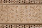 Wundervolle Blumenreliefs in Marmor gemeißelt - Taj Mahal, Agra