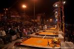 Vorbereitung der Ganga-aarti - Varanasi