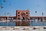 Innenhof der Jami Masjid - Indiens größter Moschee