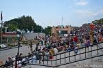 Tribüne für die tägliche Grenzschließungszeremonie auf der indischen Seite - Attari