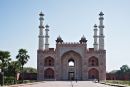 Das kostbare Hauptportal des Tomb of Akbar the Great Mausoleum (Akbar Mausoleum)