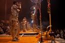 Zeremonie der Ganga-aarti - Varanasi