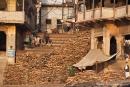 Holzvorrat zur Leichenverbrennung - Varanasi