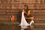 Waschen am Ganges - Varanasi