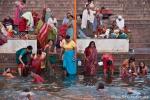 Morgendliche Lebensfreude am Ganges - Varanasi