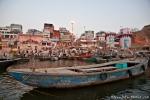 Das Dasashwamedh Ghat vom Boot aus - Varanasi