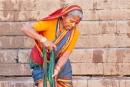 Große Wäsche - schließlich ist so ein Sari ca. 7 m lang